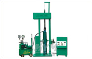 Steel cylinder test pressure loading and unloading machine